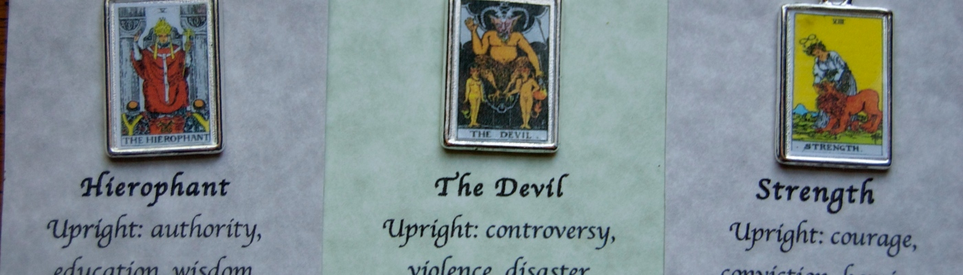 Reversible Tarot Card charms – Communiqués from the Cyberiad