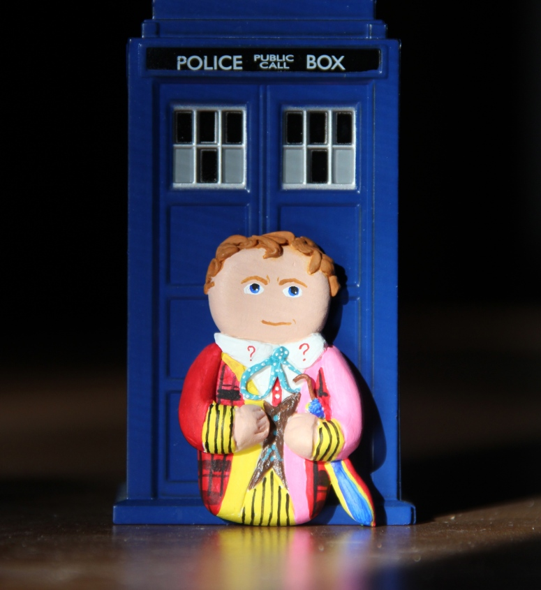 6th Doctor mini clay figure