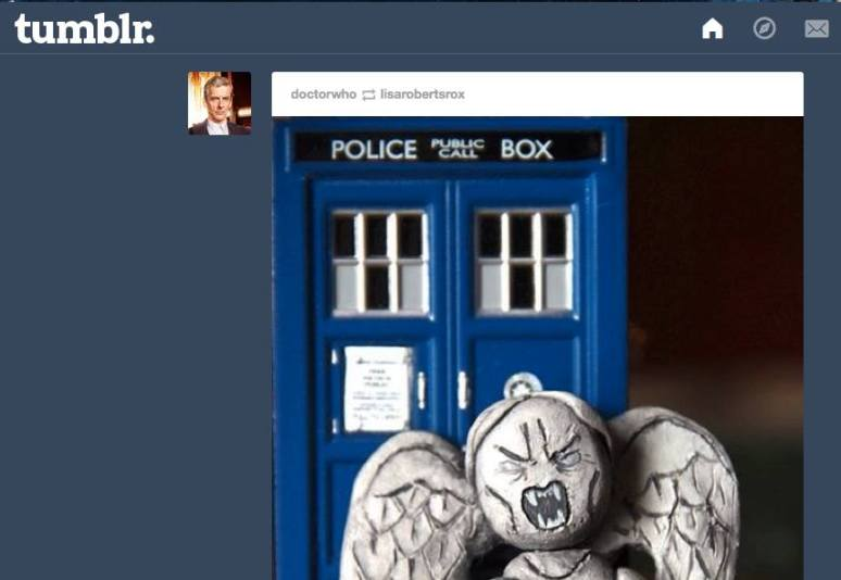 the official DW tumblr reblogged my Weeping Angel